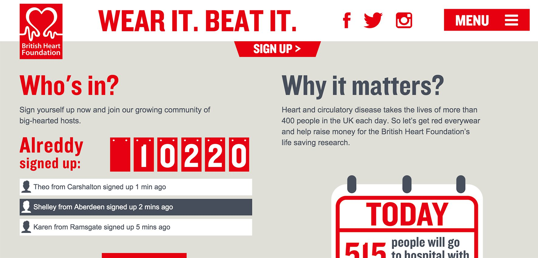 British Heart Foundation - Wear it! Beat it!